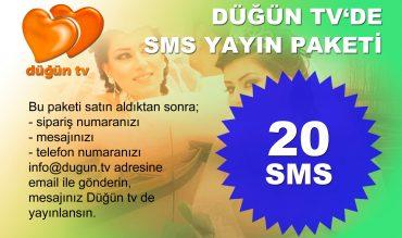 Dugun TV SMS Yayın Paketi (20 SMS)