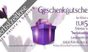 Geschenkgutschein Herbstzeiltose-Laden Köln 50€