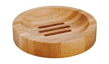 Dekorative Seifenablage aus Bambus, rund